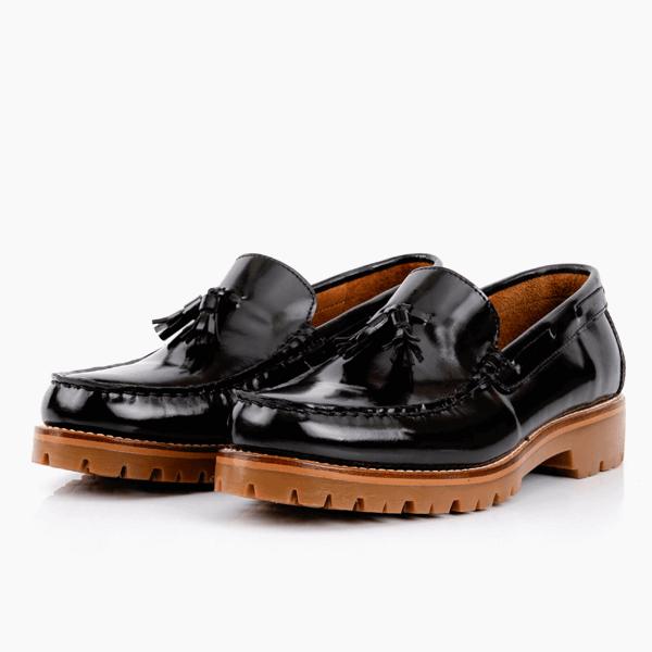 Men's Black Leather